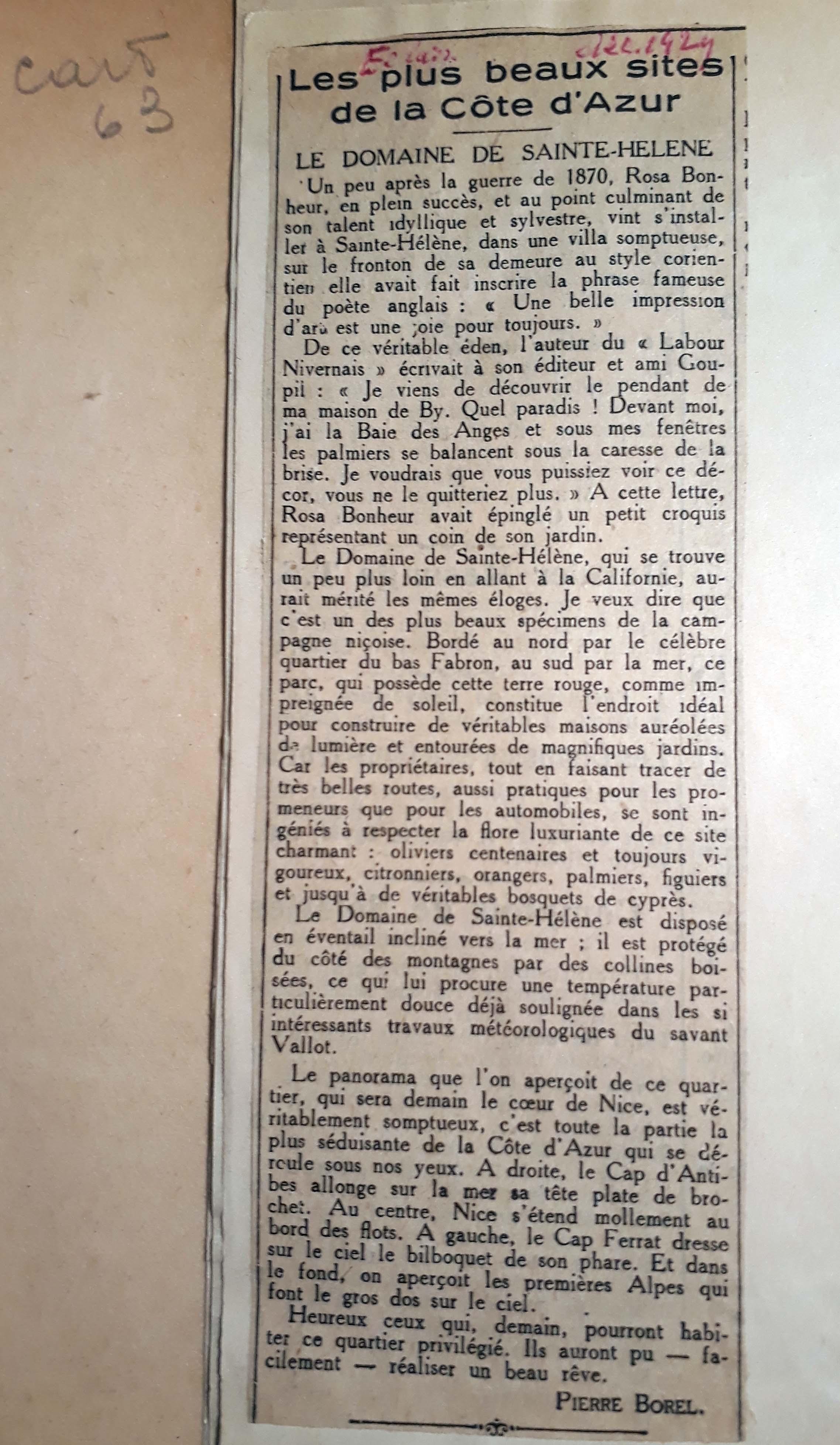 article P-BOREL